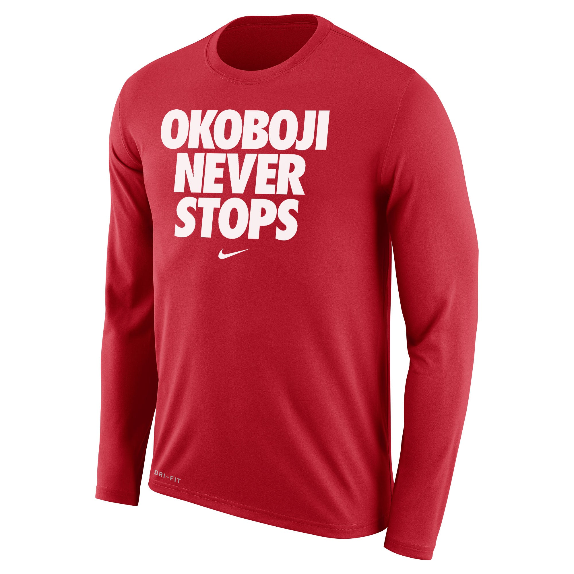 OKOBOJI NEVER STOPS Long-sleevedTee (Red)