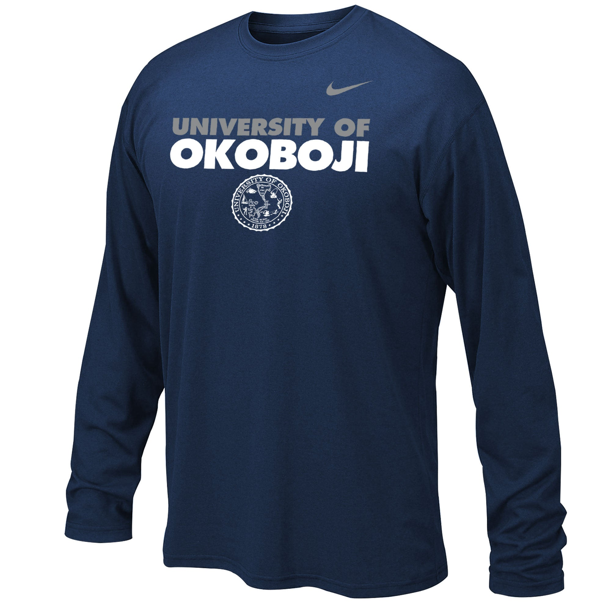 Boy's Dri-FIT Legend 2.0 Long Sleeve Tee - Navy
