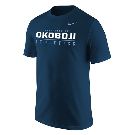 Men's Core Short Sleeve Tee by NIKE - Navy