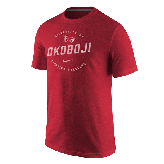 Men's Tri-Blend Short Sleeve Tee by NIKE - Red Heather