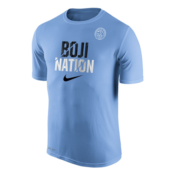 "Men's Nike Dri-FIT Legend 2.0 Short Sleeve Tee ""BOJI NATION"" - Lt. Blue"