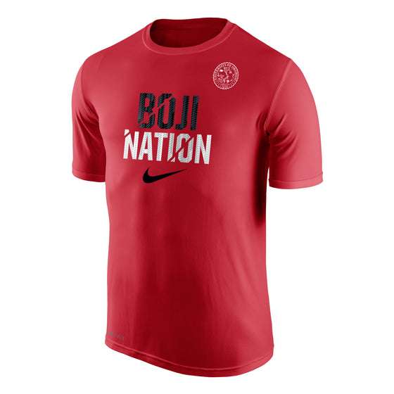 "Men's Nike Dri-FIT Legend 2.0 Short Sleeve Tee ""BOJI NATION"" - Red"
