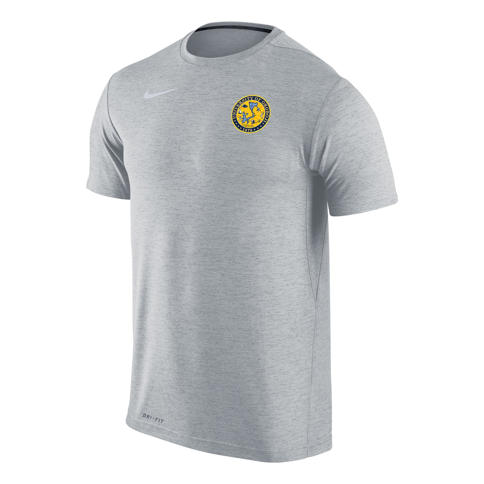 8bed7057 Men's Nike Dri-FIT Touch Short Sleeve Tee - Wolf Grey Heather