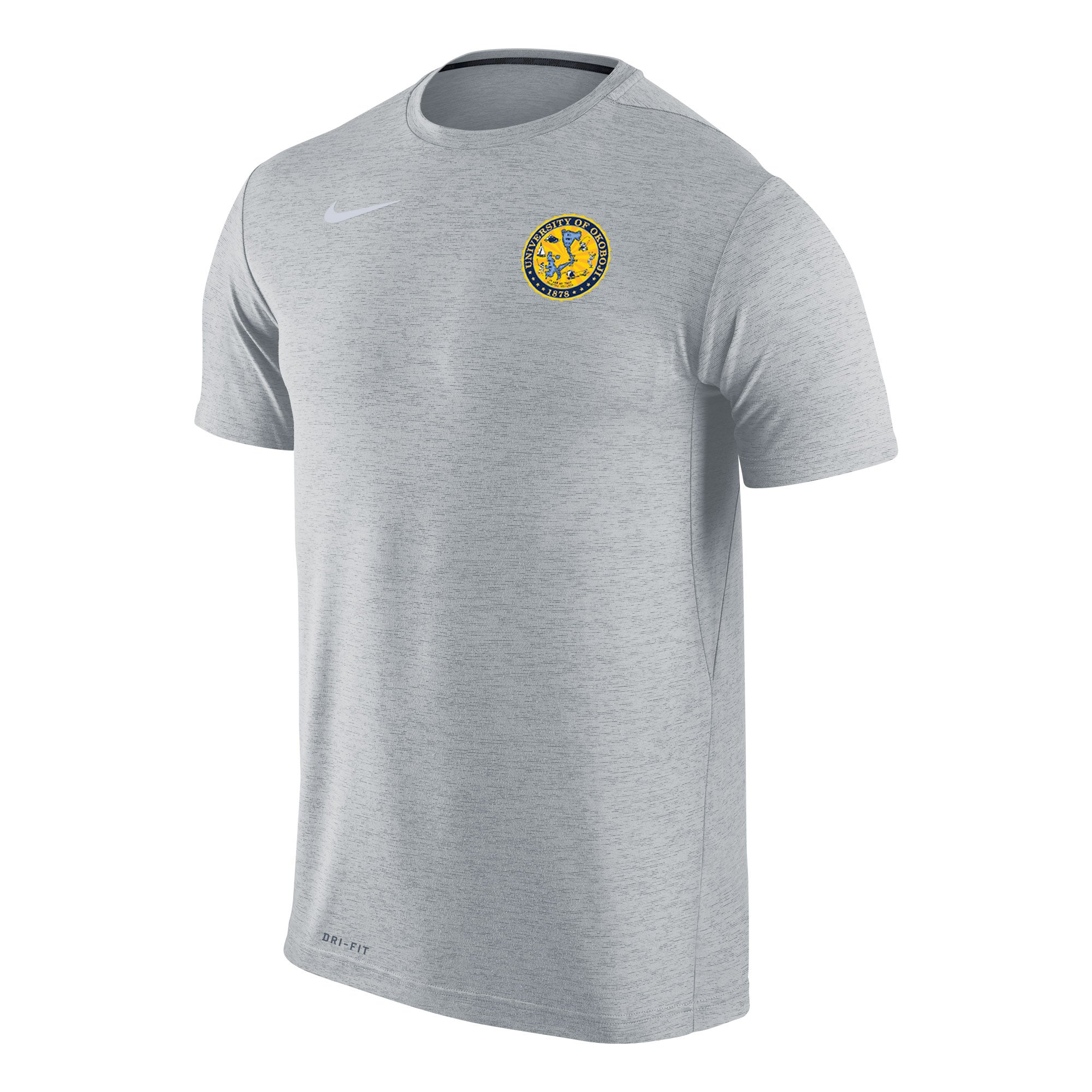 Men's Nike Dri-FIT Touch Short Sleeve Tee - Wolf Grey Heather