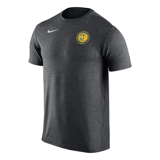 Men's Nike Dri-FIT Touch Short Sleeve Tee - Black Heather