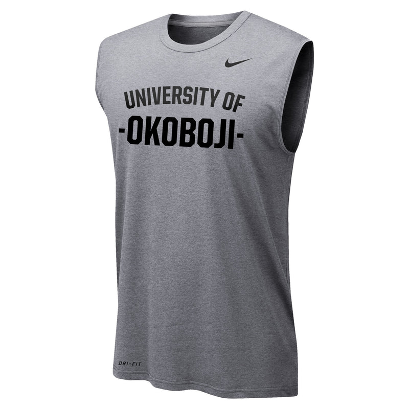 Men's Nike Dri-FIT Legend 2.0 Sleeveless Tee - Dark Heather