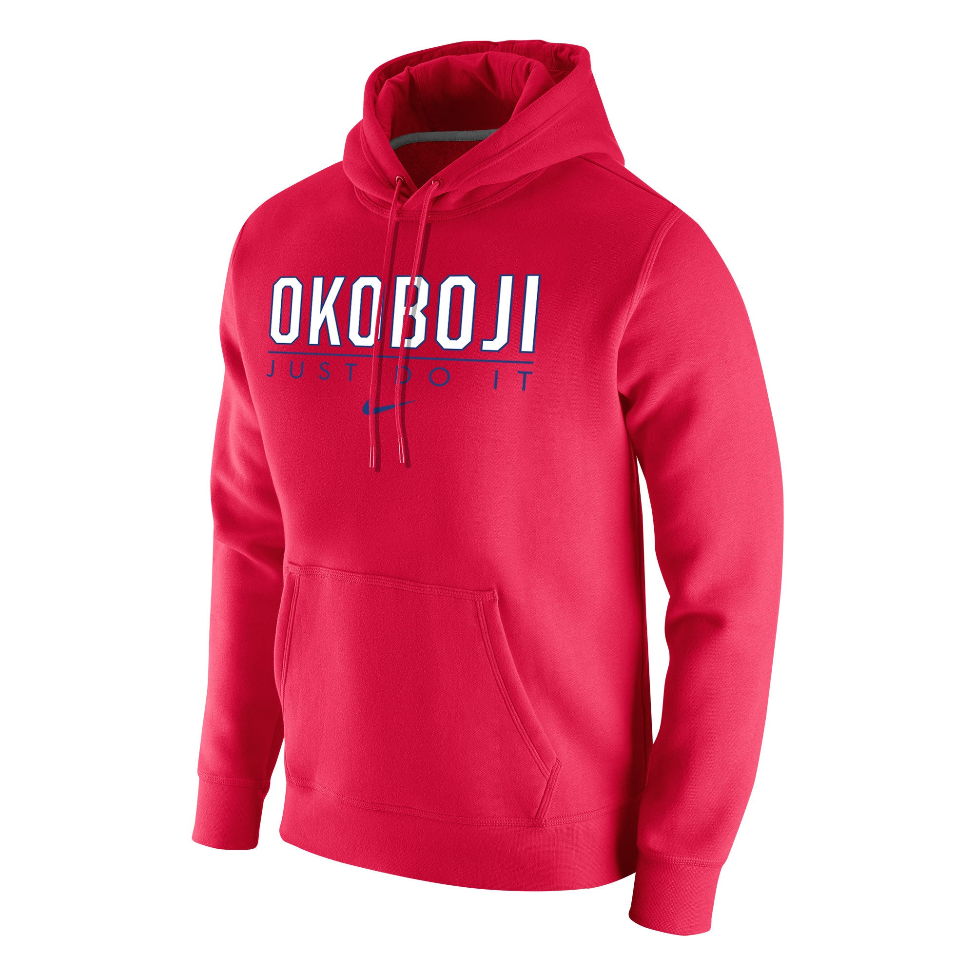Men's Stadium Club Fleece Hoody by Nike - Red
