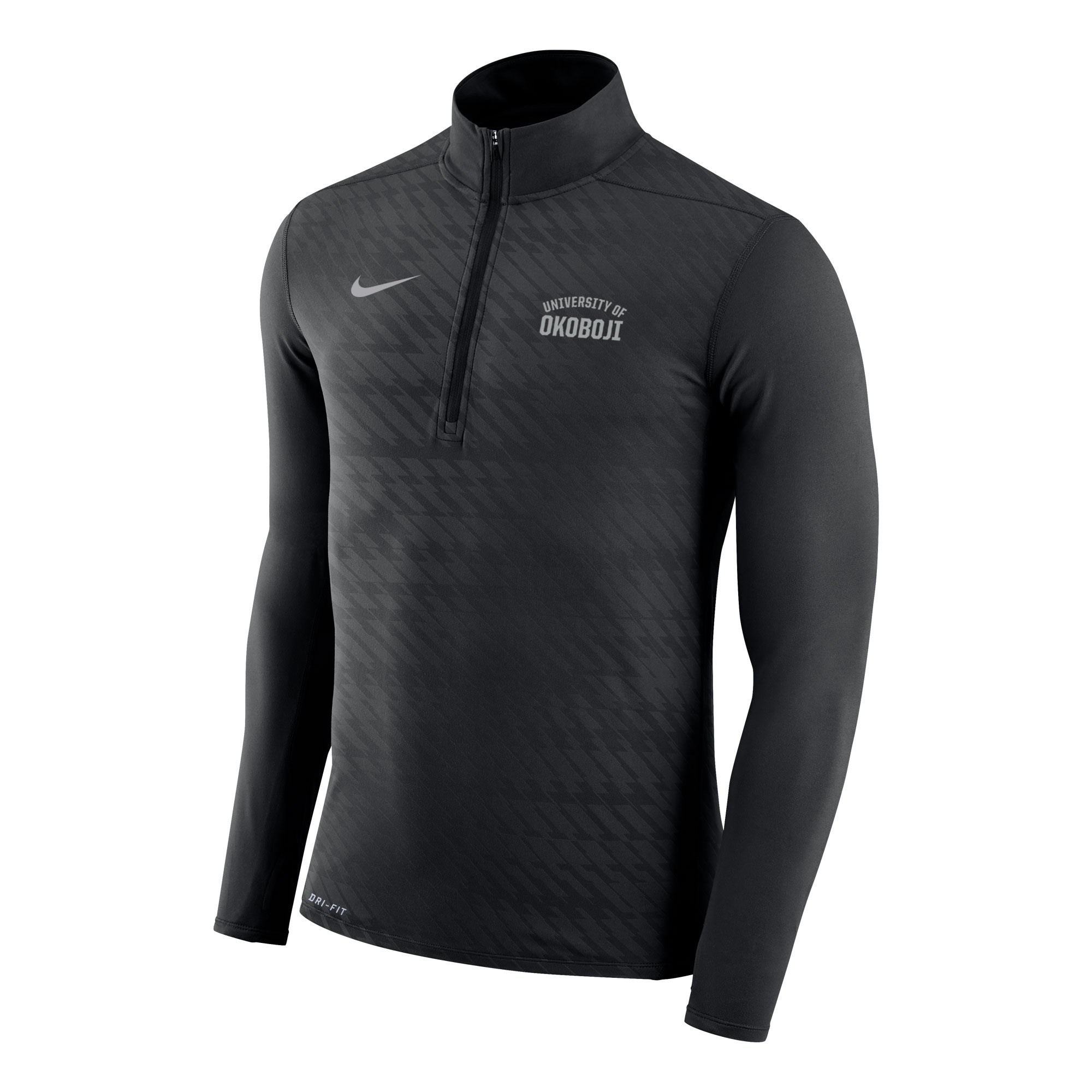 Men's Embossed Element 1/4 Zip Top - Black