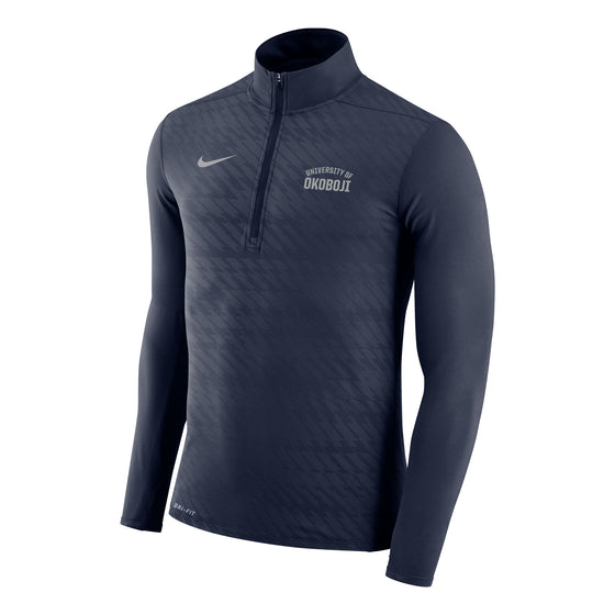 Men's Embossed Element 1/4 Zip Top - Navy