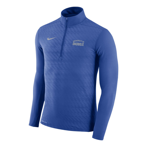 Men's Embossed Element 1/4 Zip Top - Royal