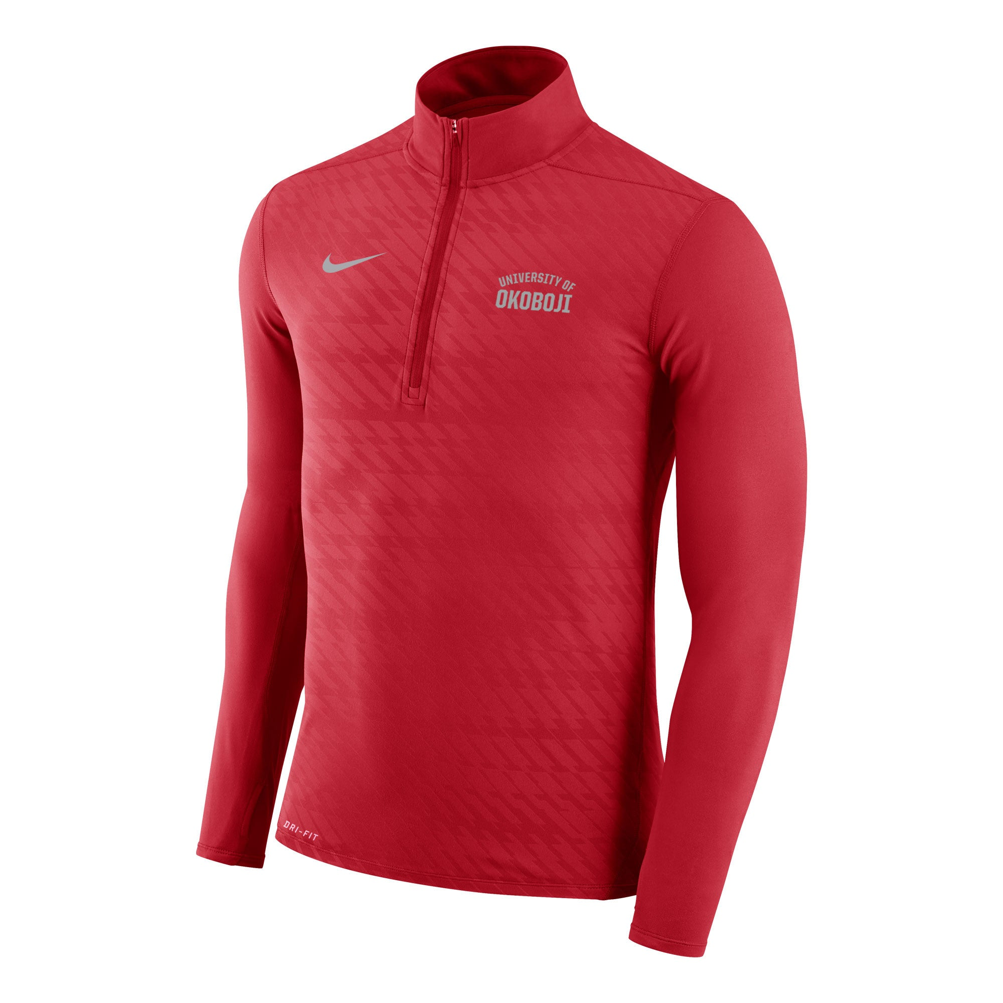 Men's Embossed Element 1/4 Zip Top - Red