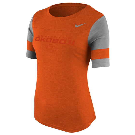 Women's Nike Stadium Fan Top - Orange Heather