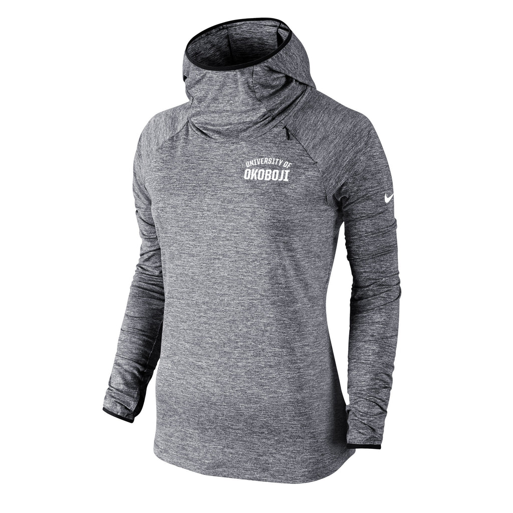 Women's Nike Element Hoody - Carbon Heather