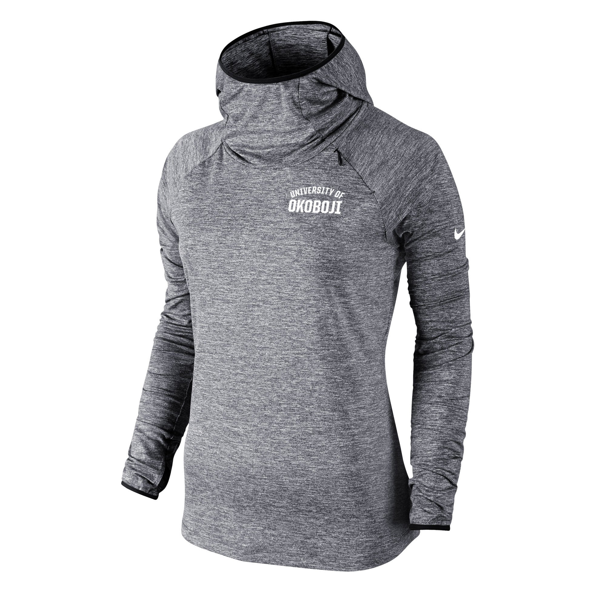 Women's Nike Heathered Element Hoody - Carbon Heather Grey
