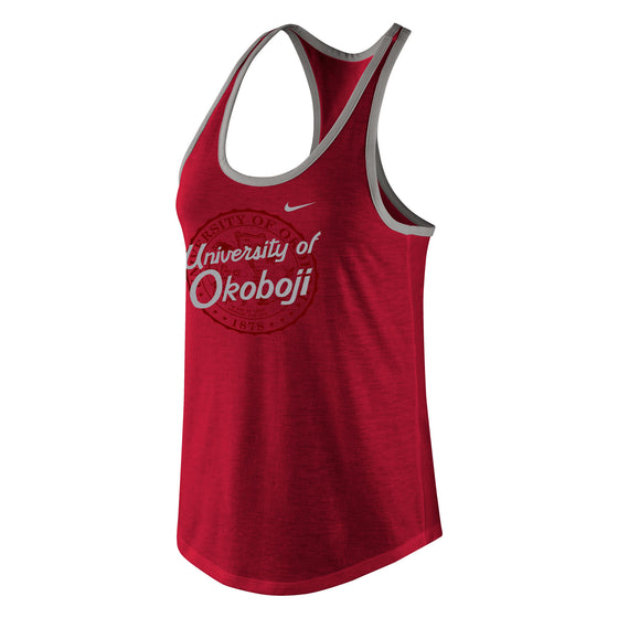 Women's Tri-Blend Racerback Tank - U. Red Heather