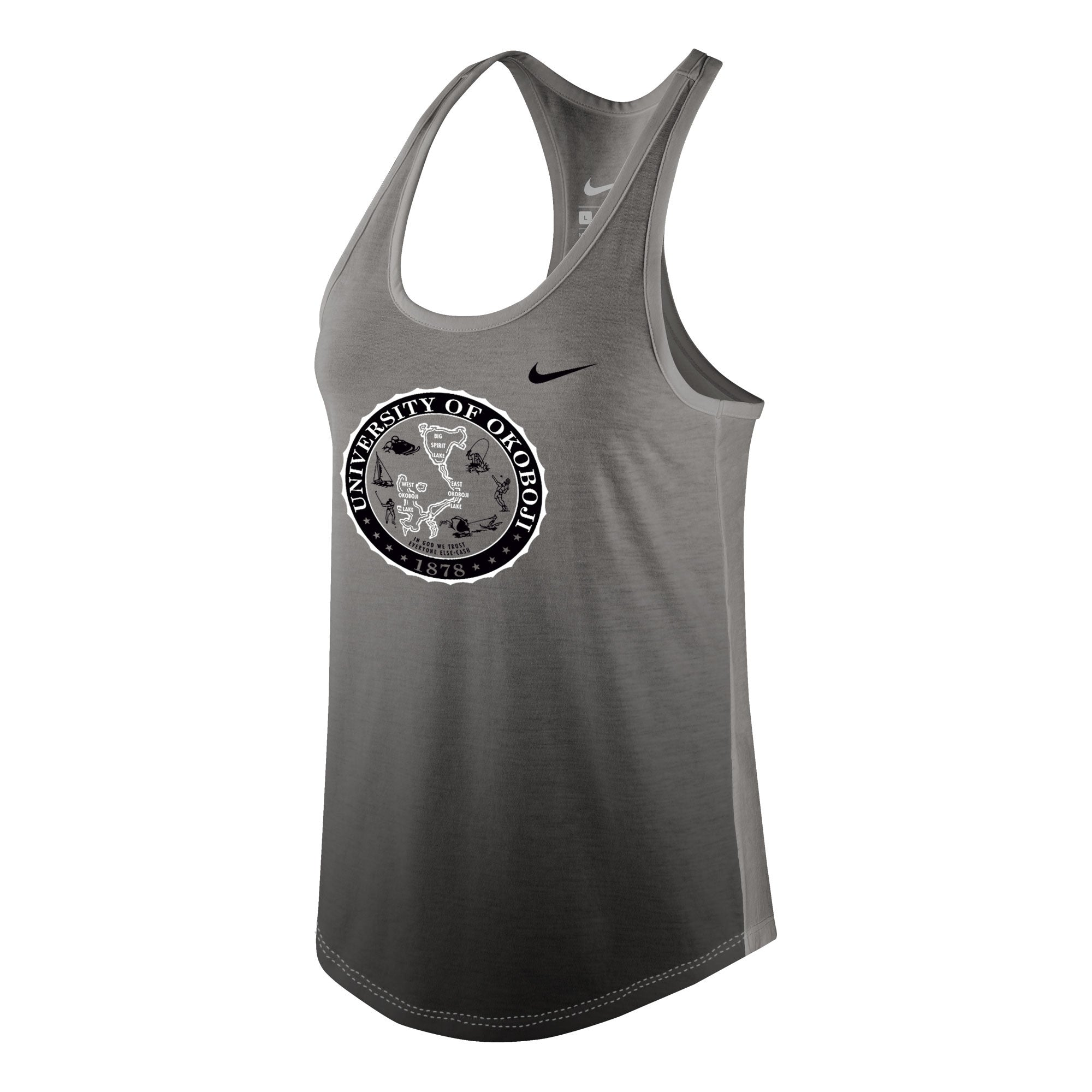 Women's Nike Tri-Blend Gradient Tank - Black