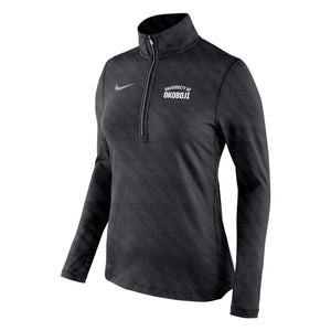 Women's Nike Embossed Element 1/2 Zip - Black