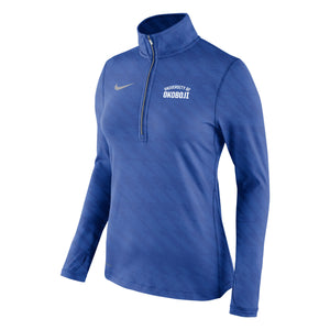 Women's Nike Embossed Element 1/2 Zip - Royal