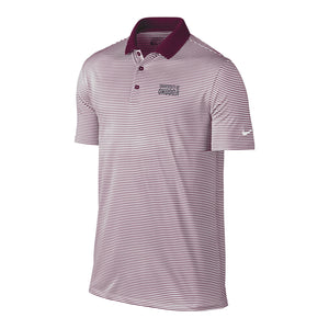 Nike Victory Mini-Stripe Golf Polo - Maroon