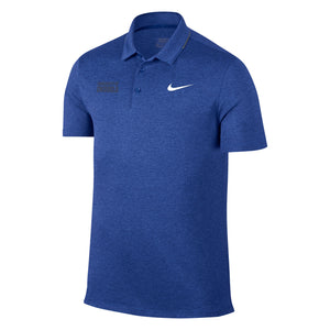 Nike Breathe Heathered Golf Polo - Royal