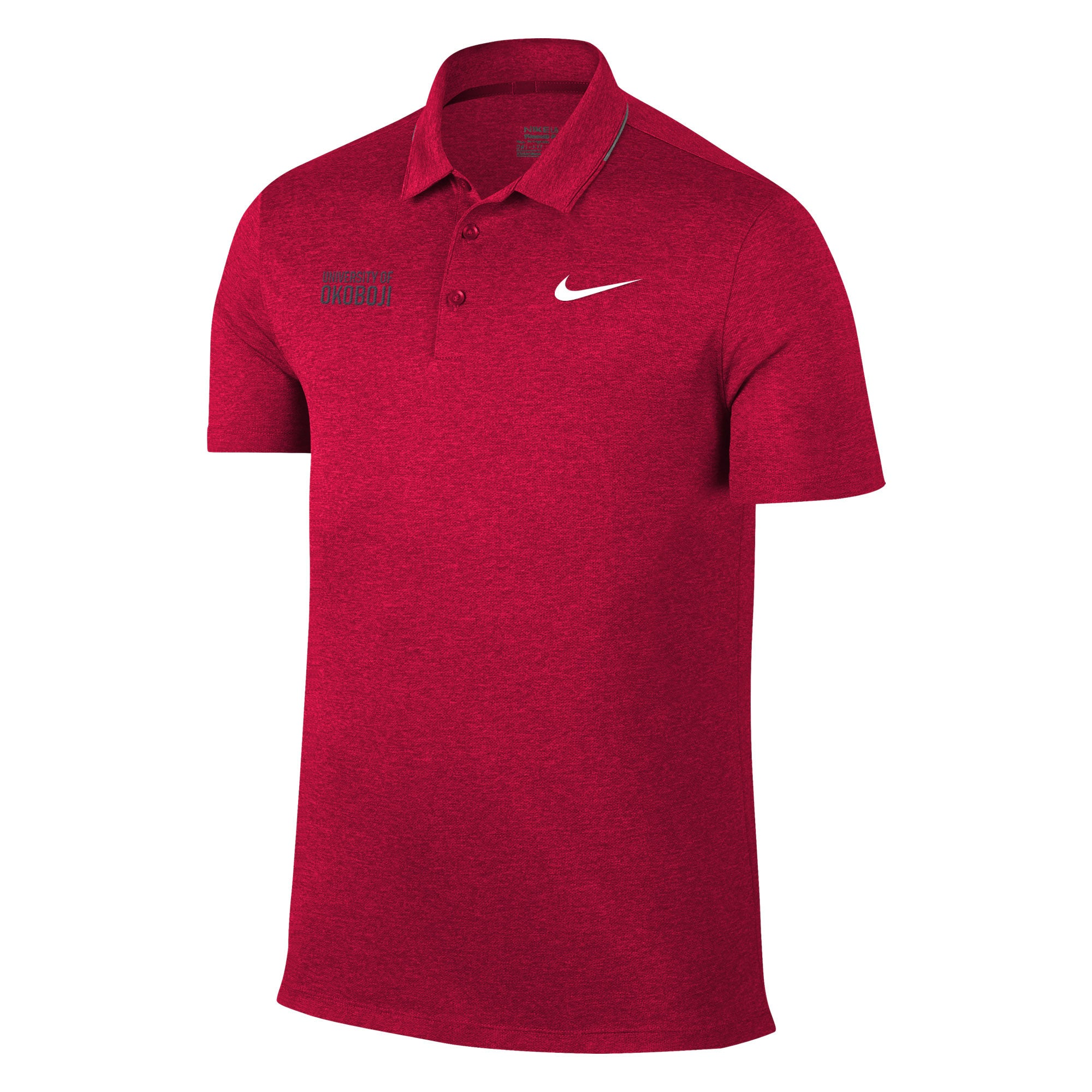 Nike Breathe Heathered Golf Polo - Red