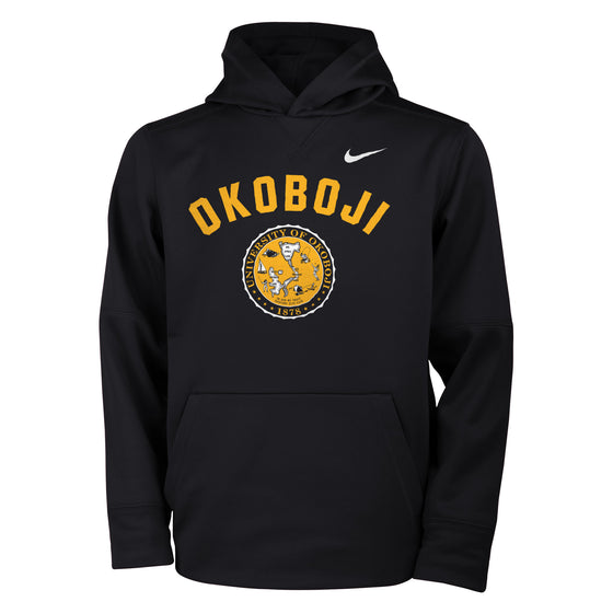 Youth Nike Black & Gold Hoodie