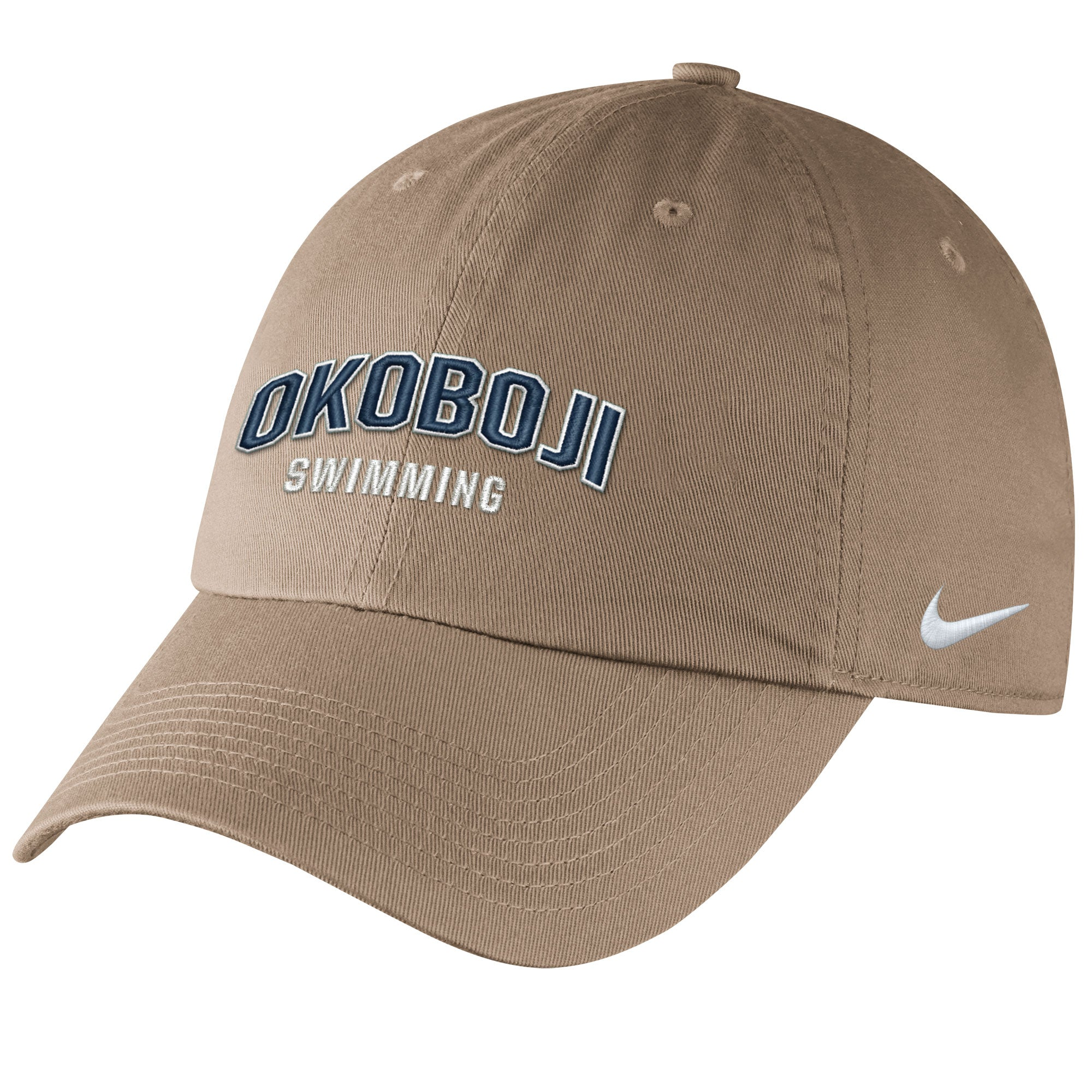 Okoboji Khaki Campus Cap - SWIMMING