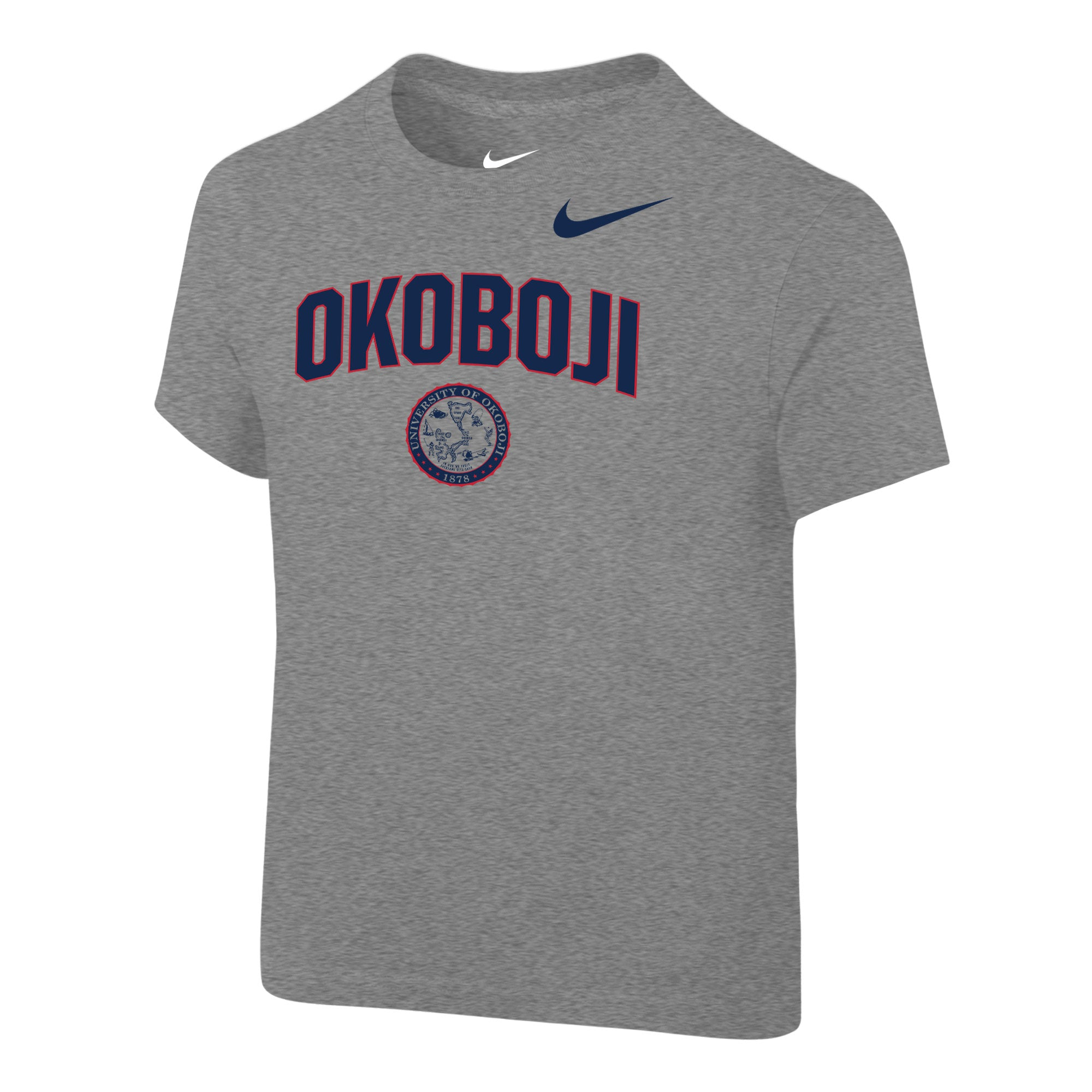 Okoboji Toddler NIKE Core Cotton Short Sleeve Tee - Dark Heather