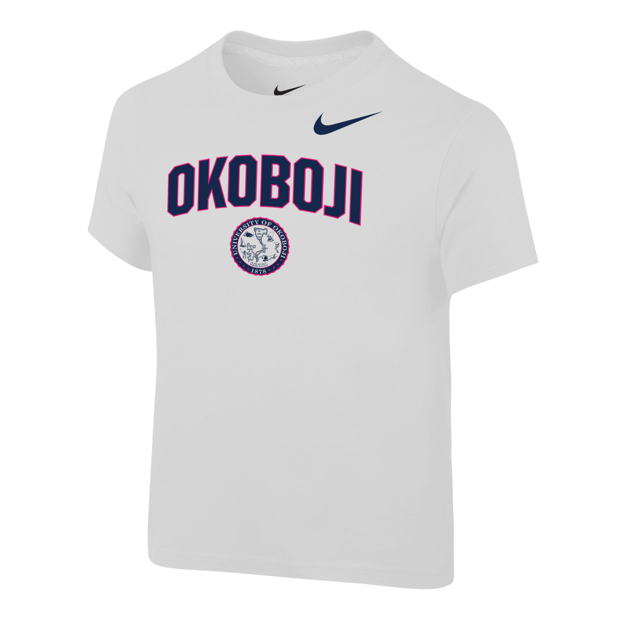 Okoboji Toddler NIKE Core Cotton Short Sleeve Tee - White