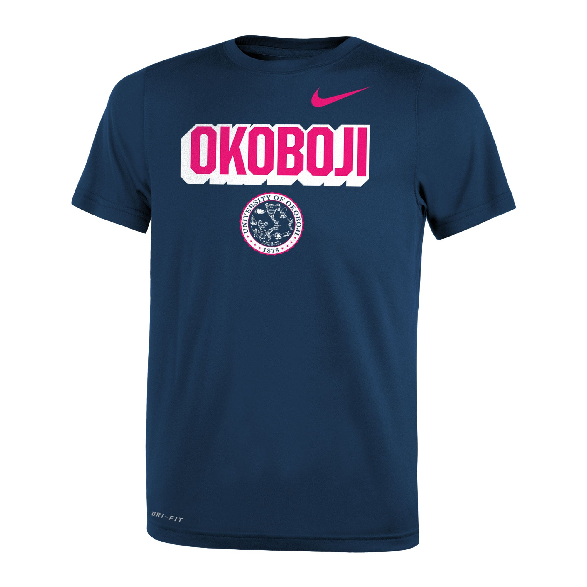 Girls NIKE Legend Short Sleeve Tee - Navy