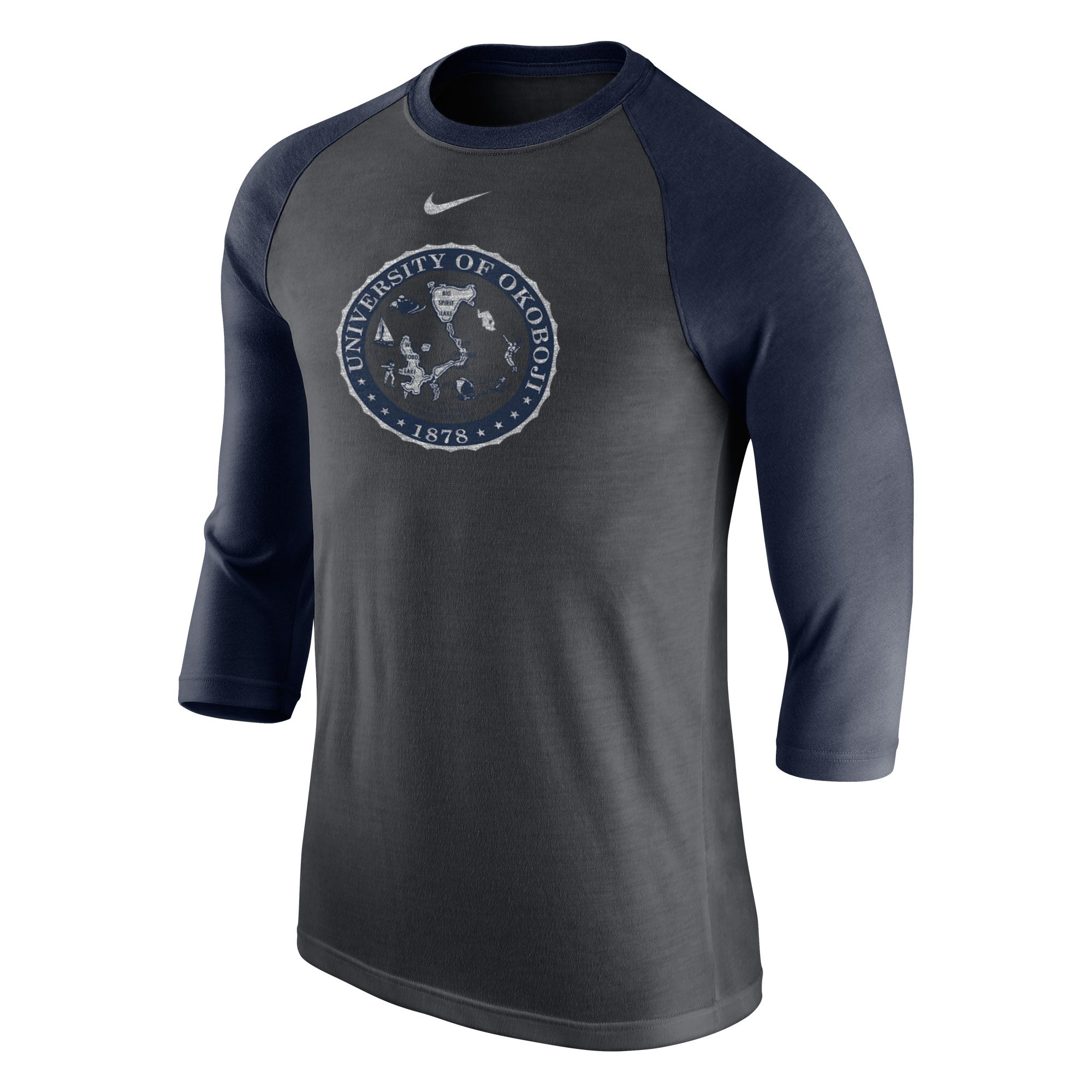 Tri-Blend 3/4 Raglan Tee - Navy Heather