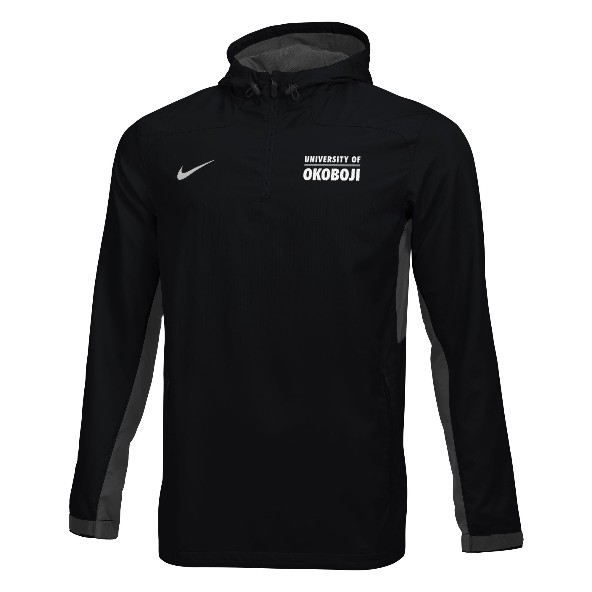 Men's Nike Woven 1/4 Zip Jacket - Black