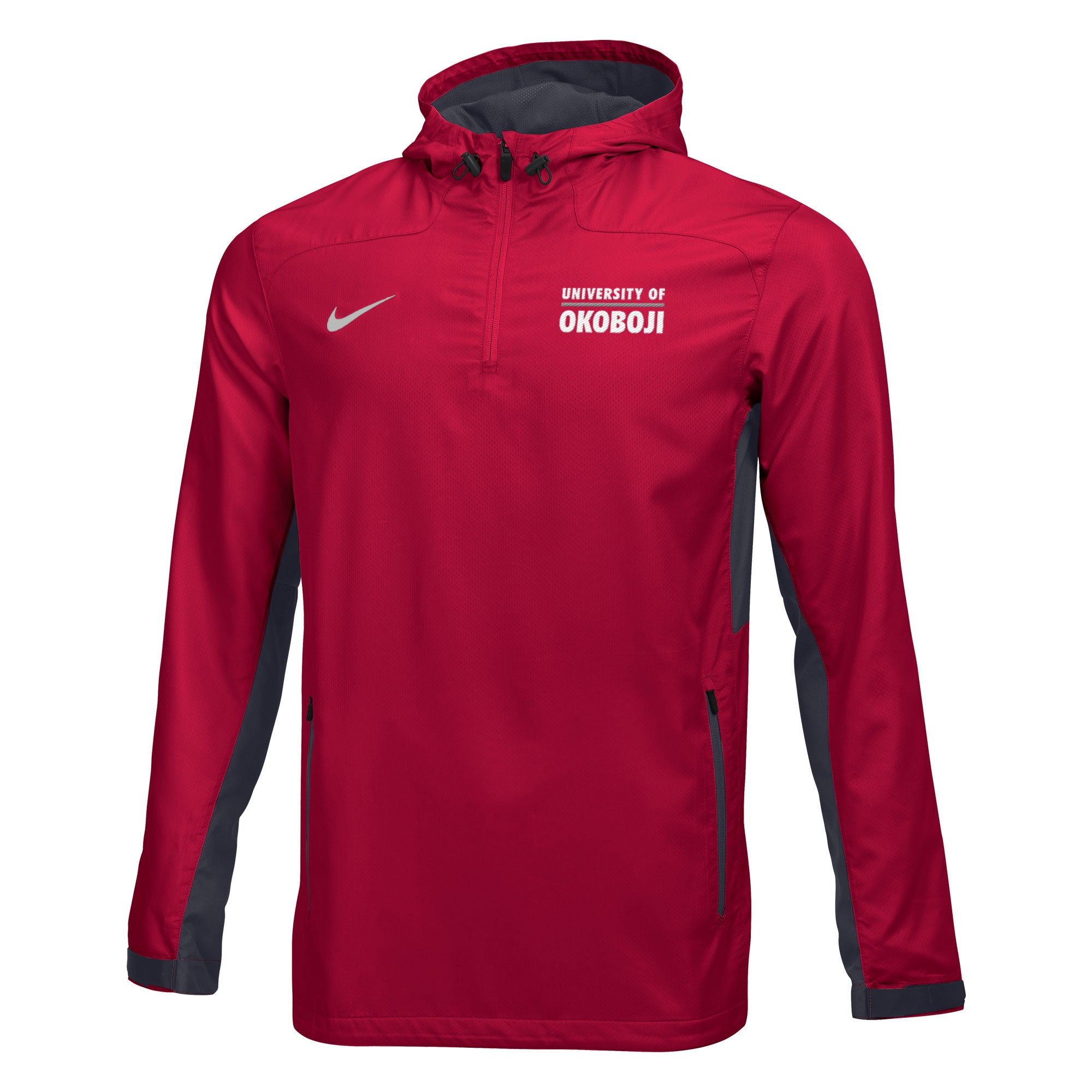 Men's Nike Woven 1/4 Zip Jacket - Red