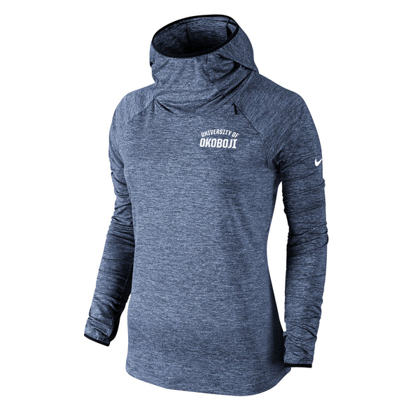 Women's Nike Heathered Element Hoody - Navy Heather
