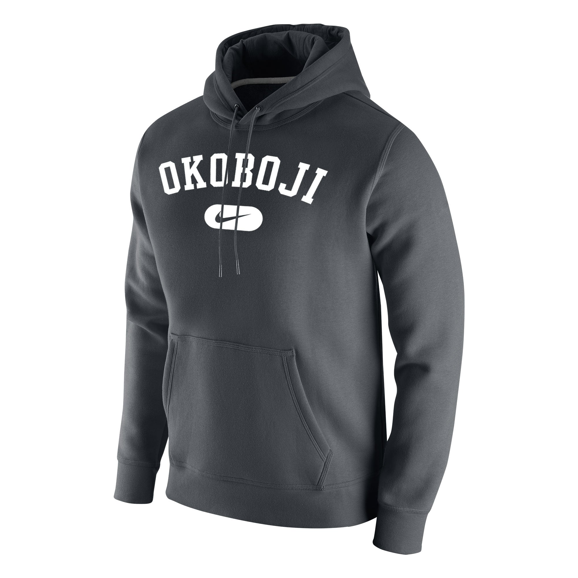 Stadium Club Fleece Hood - Dark Grey