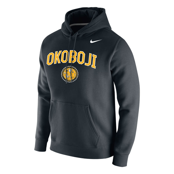 Stadium Club Fleece Hood - Okoboji Black