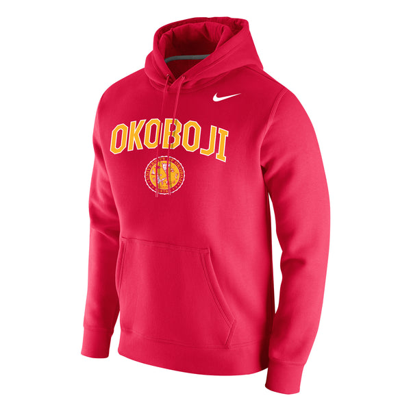 Stadium Club Fleece Hood - Okoboji U Red