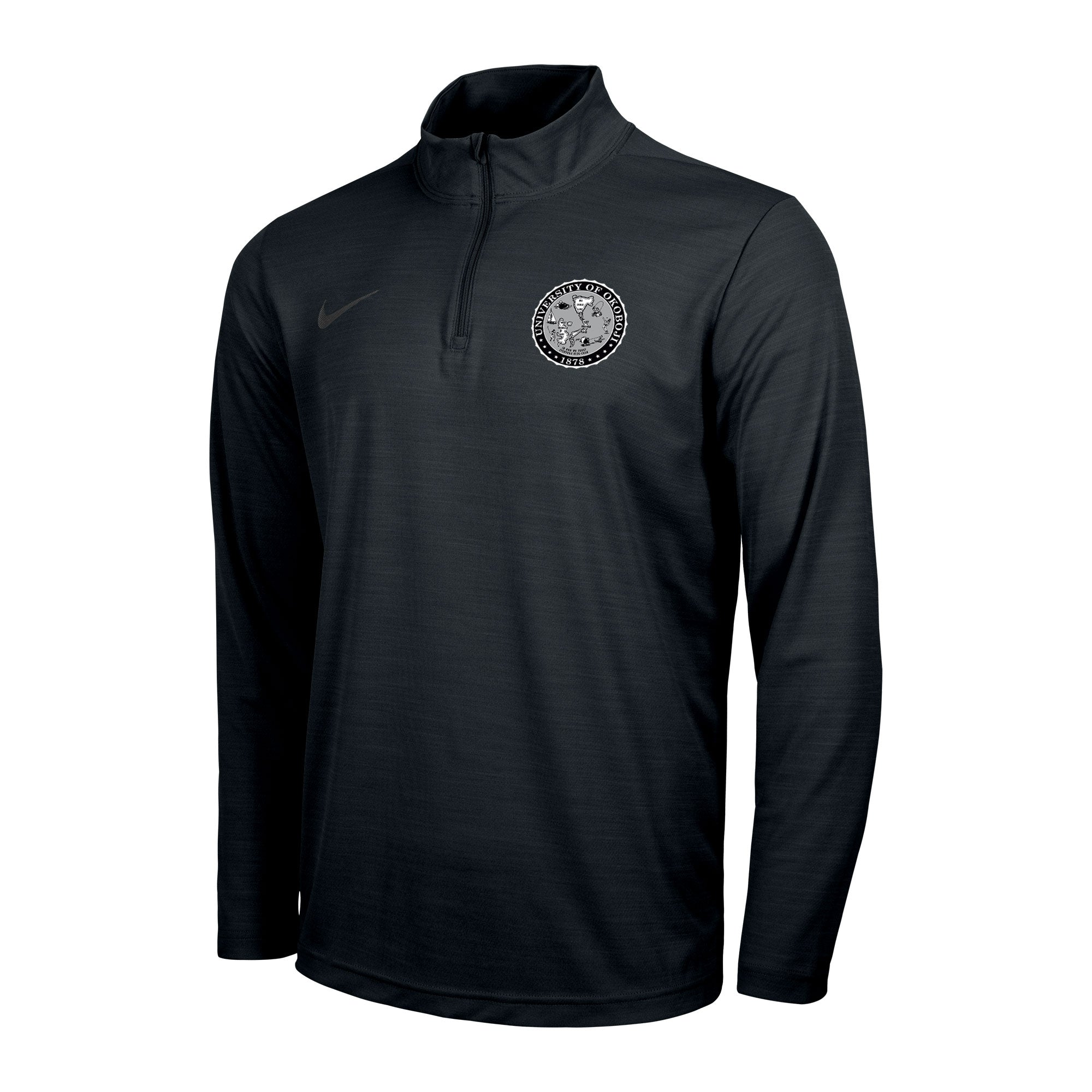 Men's Okoboji Intensity 1/4 Zip Top - Black