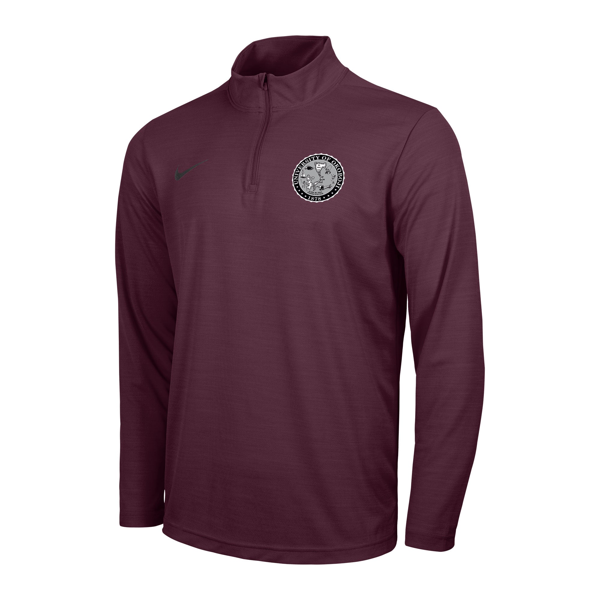 Men's Okoboji Intensity 1/4 Zip Top - Maroon