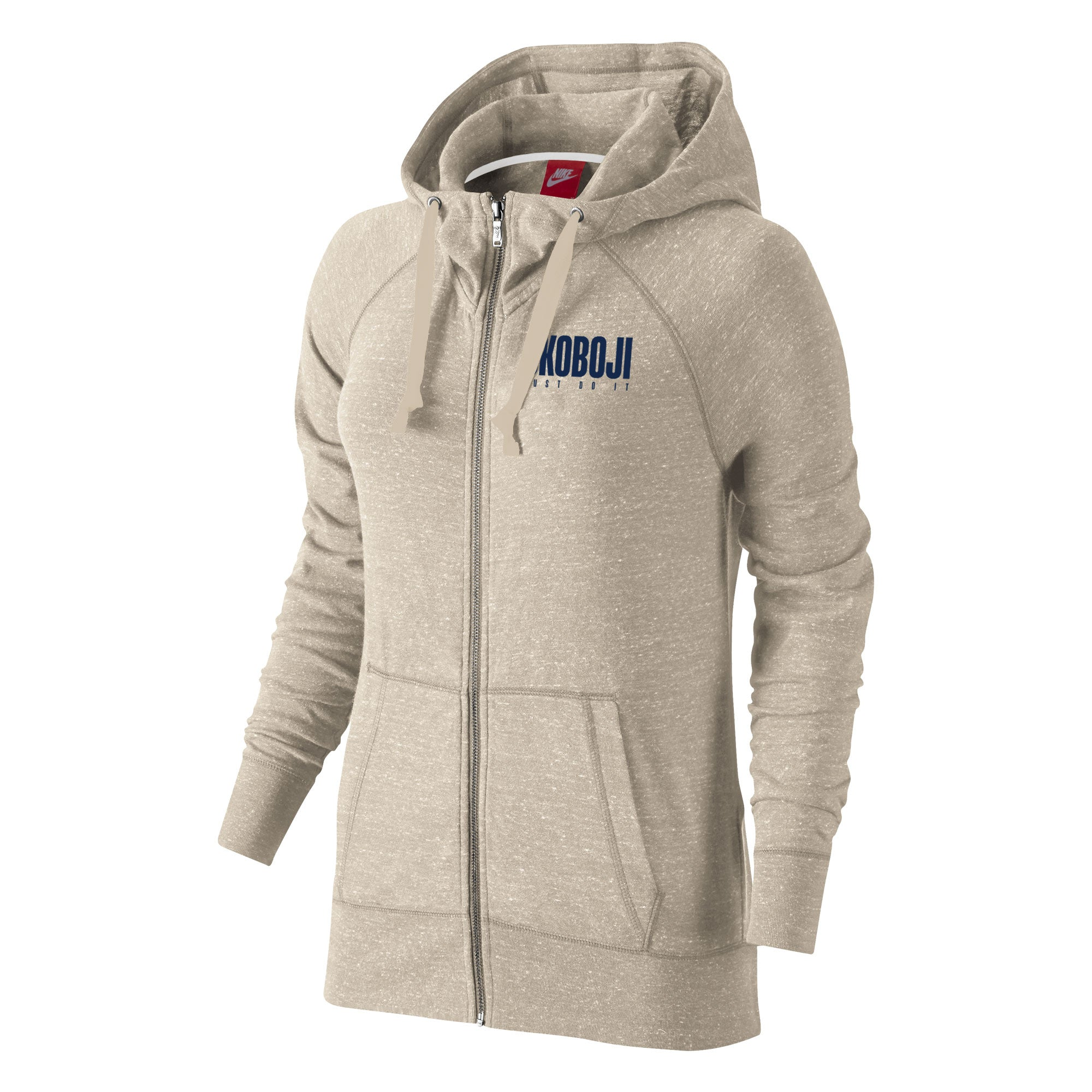 Okoboji Gym Vintage Full Zip - Oatmeal Heather