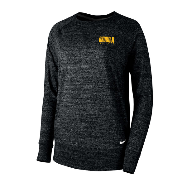 Okoboji Gym Vintage Crew - Black Heather