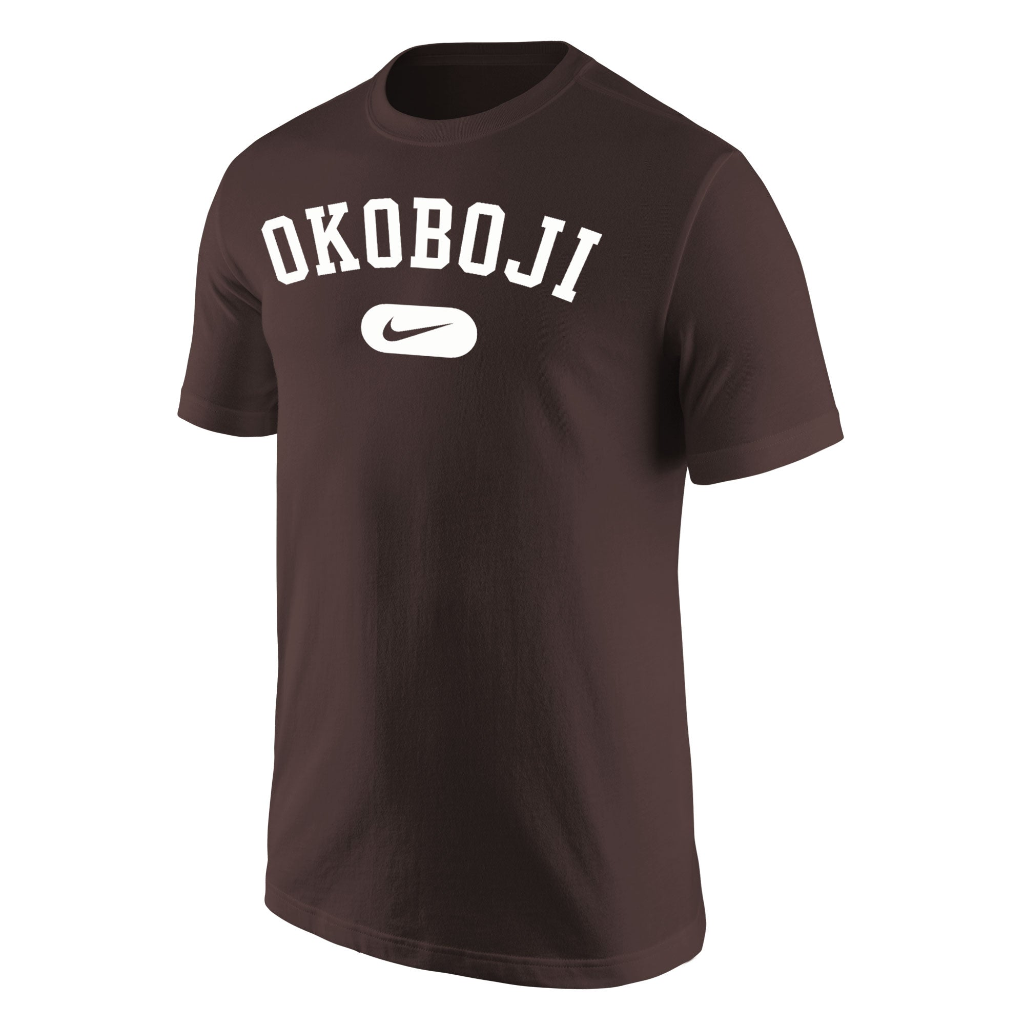 Okoboji Nike Core Cotton Short Sleeve Tee - Brown