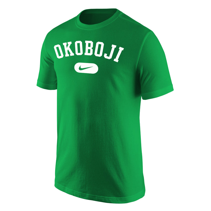 Okoboji Nike Core Cotton Short Sleeve Tee - Kelly Green