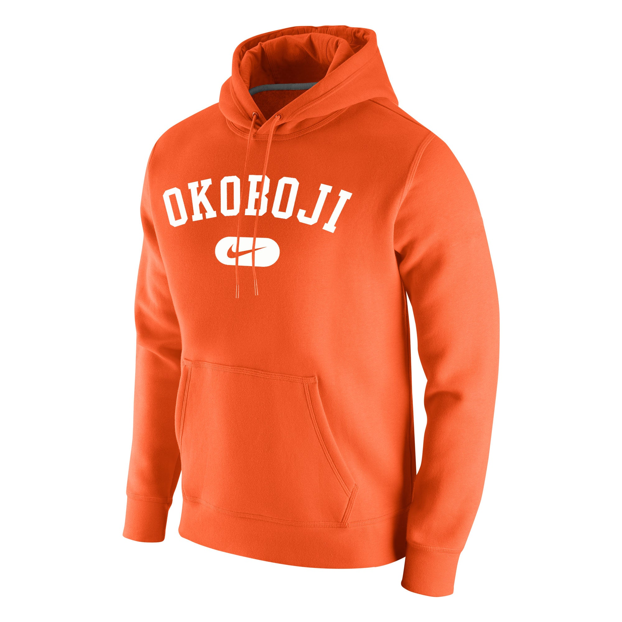 Okoboji Stadium Club Fleece Hood - Orange