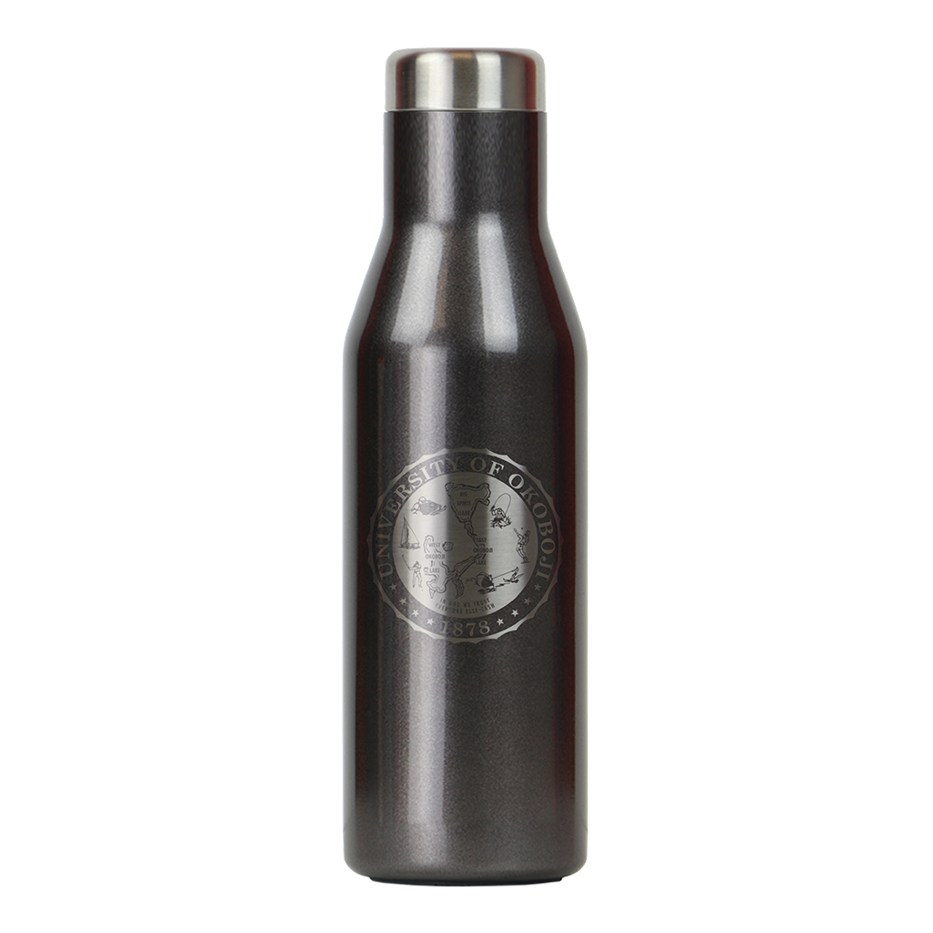 THE ASPEN - U OF OKOBOJI - INSULATED STAINLESS STEEL BOTTLE - 16 FL OZ - Grey Smoke