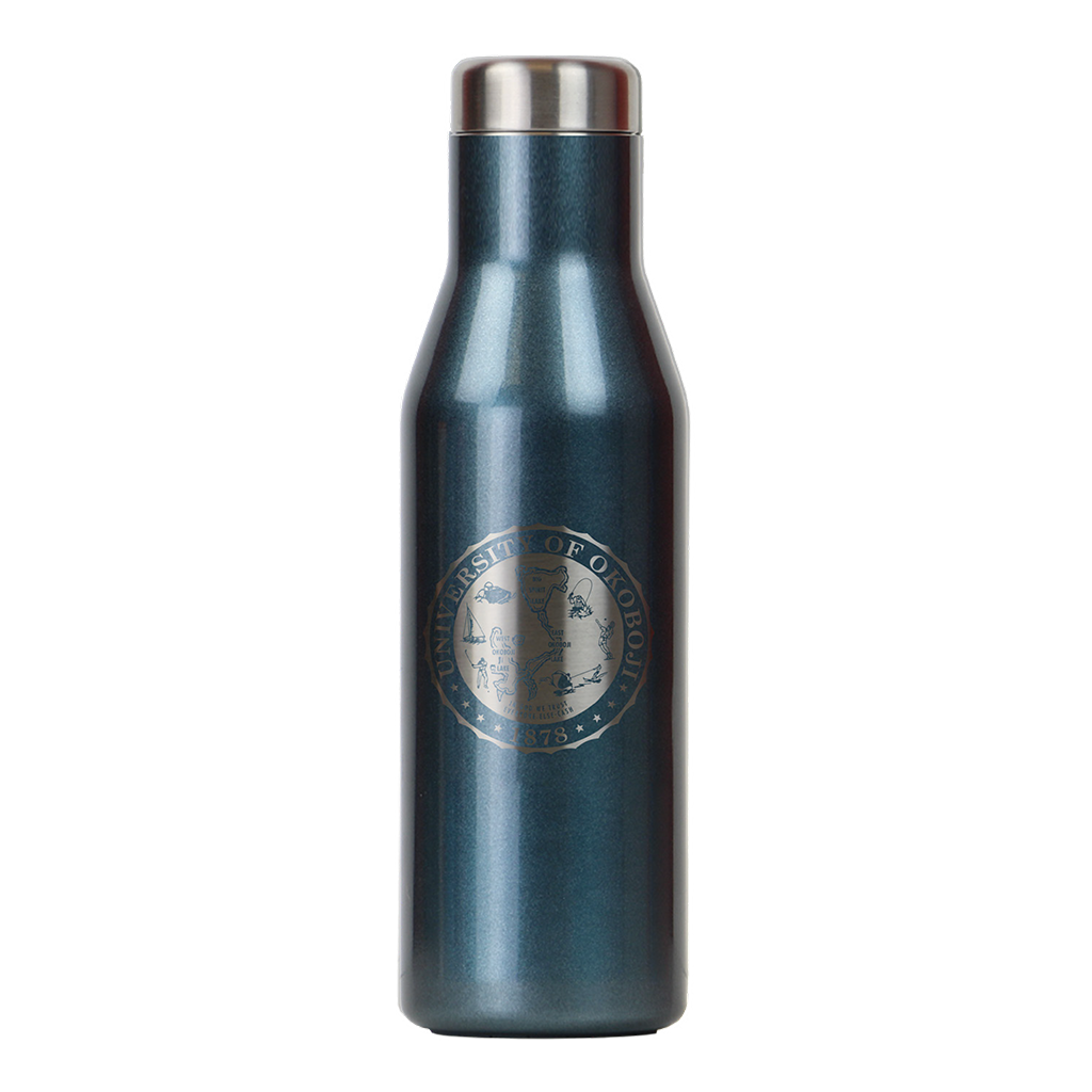 THE ASPEN - U OF OKOBOJI - INSULATED STAINLESS STEEL BOTTLE - 16 FL OZ - BLUE MOON