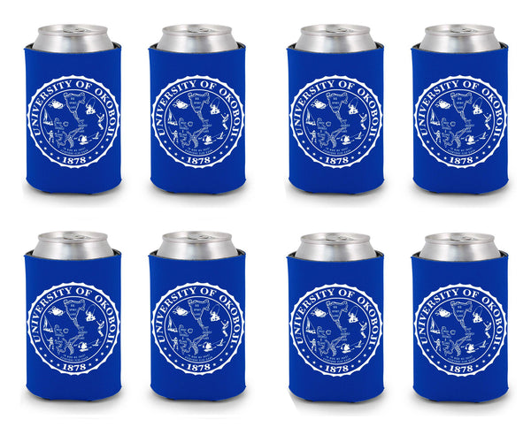 University of Okoboji Koozie 8 Pack - Royal