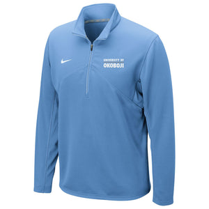DRI-FIT TRAINING 1/4 ZIP U of O TOP - Carolina Blue
