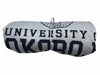 The U of O Gray With Navy Sweatshirt Blanket