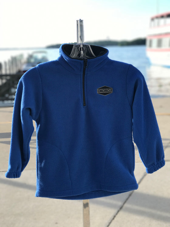 Youth Long Sleeve 1/4 Zip Fleece - Royal Blue